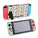 SUPNON Seamless Pattern Cute Hamster Sit and Compatible with Nintendo Switch Console & Joy-Con Protective Case, Durable Flexible Shock-Absorption Anti-Scratch Drop Protection Cover Shell Design34151