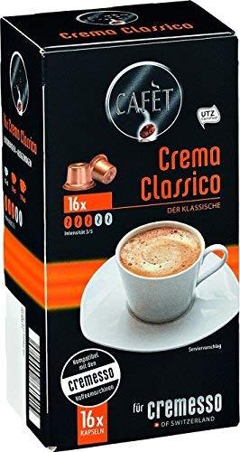 Cafèt Crema Classico 80 Kapseln - für Cremesso/Delizio Kaffeemaschinen