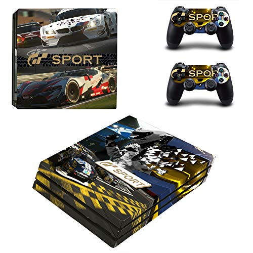 FENGLING Gran Turismo Sport & GT Sport Ps4 Pro Skin Sticker para Sony Playstation 4 Console y 2 Controladores Ps4 Pro Stickers Decal Vinilo