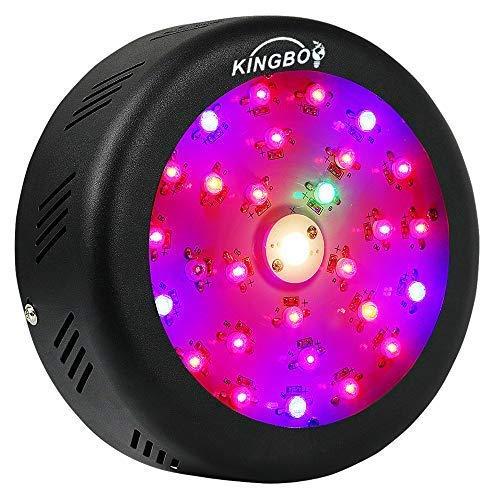 KINGBO Neu UFO LED Wachsen Licht 150W, CREE COB Vollspektrum LED Pflanzenlicht mit UV IR LEDs und Schalter Wachstumslampe für Pflanzen Gewächshaus Hydrokulturpflanzen Aussaat Wachstum und Blüte