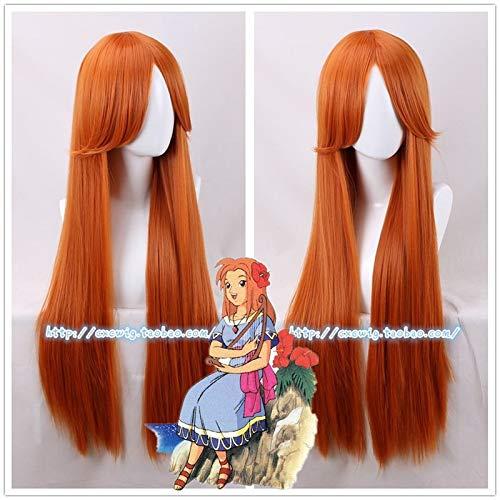 The Legend of Zelda: Link's Awakening Marin Orange Wig Mebe No Mura Cosplay Wig Role Play Girl 80cm Long Hair Costume
