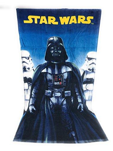 Starwar - Toalla de playa de algodón 100% (290 g/m²/m2) – 70 x 140 cm Disney – Dark Vader