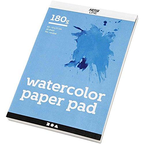 Creativ Company 20-delige aquarel papier pad, wit