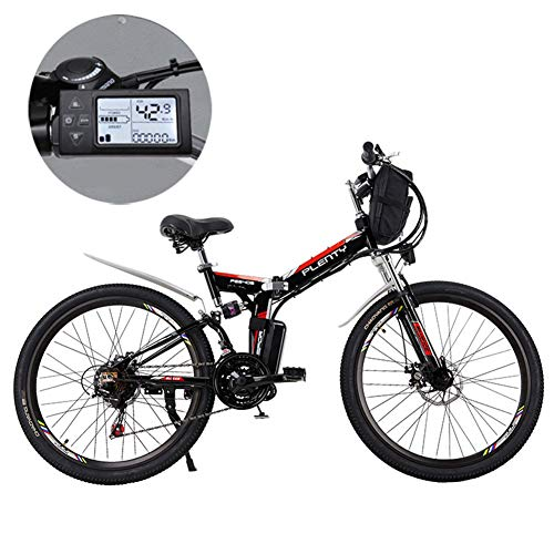 Electric Mountain Bikes, 24 Inch verwisselbare lithium batterij Mountain elektrische vouwfiets met Opknoping Bag Drie Riding Modes geschikt voor mannen en vrouwen