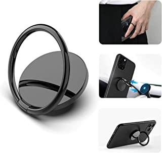 Cell Phone Ring Holder - 3M Adhesive Phone Ring Holder Finger Kickstand - 360° Rotating Mobile Hand Holder - Mobile Grip C...