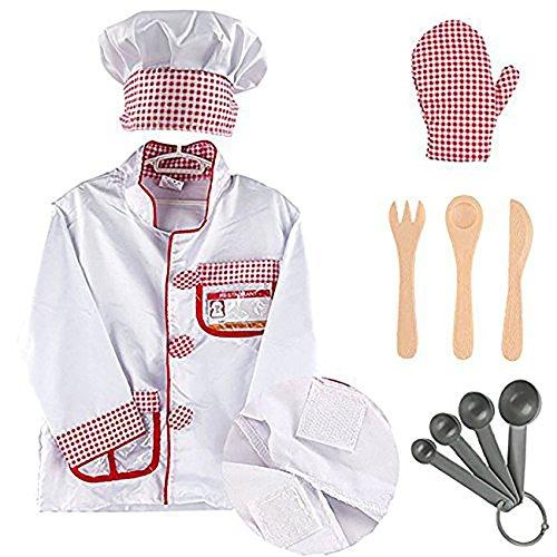 EZSTAX Disfraz de Chef para Niños de Halloween