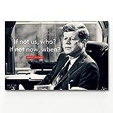 YHSM Wandkunst Bild Zitat Typografie John F. Kennedy