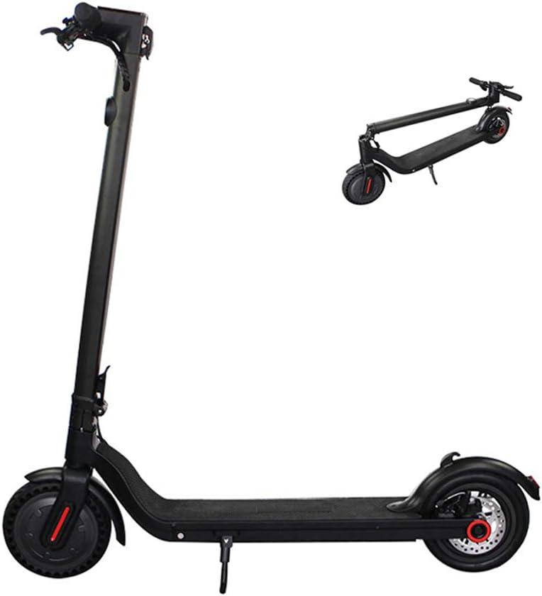 MDZZ Scooter pequeño Adulto, Ligeros Plegables Scooters eléctricos con Pantalla LCD Luz Trasera y Bell, 8,5 Pulgadas de neumáticos, Herramienta de Montar a Caballo al Aire Libre portátil