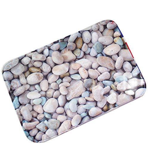 Eastery deurmat vuilafstoter deurmat kopsteenpleister patroon badmatten antislip schoonloopmat (steen # 1 eenvoudige stijl 60 * 90Cm)