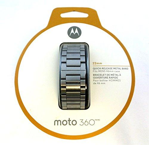 Motorola Metal 22mm Band for Moto 360 Smart Watch (2nd Gen) Silver 89856N