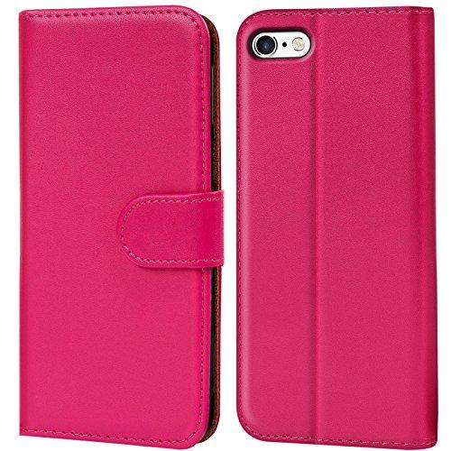 Verco iPhone 6s Hülle, Handyhülle für Apple iPhone 6 > 6s Tasche PU Leder Flip Case Brieftasche - Pink