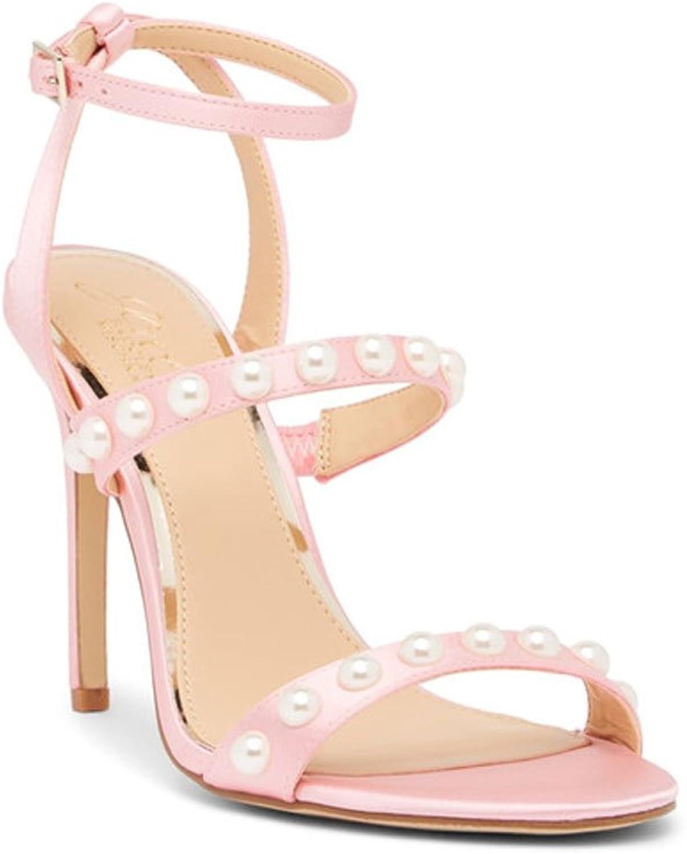 Badgley Mischka Jewel Gracie Faux Pearl Satin Sandal