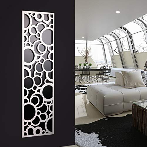 Wandgarderobe/Garderobe, Design Circle, 140x40x2 cm, weiß (Marke: Szagato, Made in Germany) (Kleiderständer Garderobenständer Garderobenleiste Garderobenpaneel Garderobenhaken)