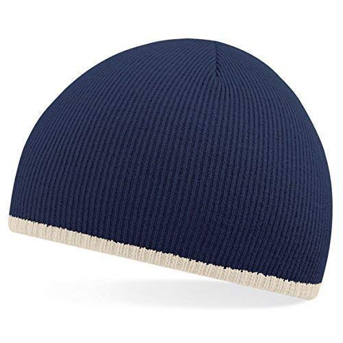 Shirtinstyle Bonnet en tricot de laine, fashion-hat, bonnet D'hiver - Marine, One Size