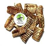 Sancho & Lola's 3-inch USA Beef Trachea Tubes (18-Pack), Nebraska Sourced Nutrition-Rich Naturally Grain-Free Dog Treats Made in USA, Loaded with Glucosamine and Chondroitin (See Other Sizes)