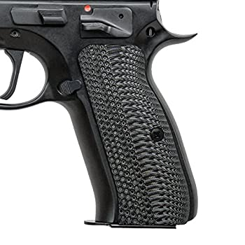 Cool Hand G10 Grips for CZ 75 Full Size OPS Texture Grey/Black Brand