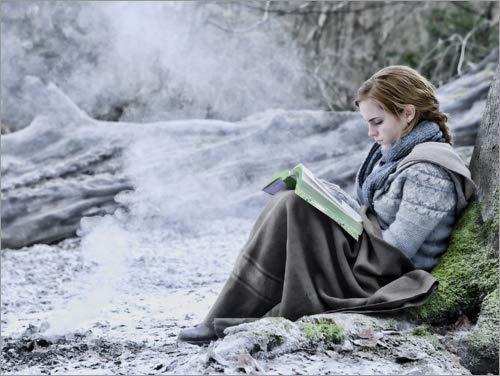 Póster 80 x 60 cm: The Deathly Hallows I - Hermione with Her Book de Warner Bros. Entertainment GmbH - impresión artística, Nuevo póster artístico