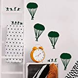 Cool Wall Stickers for Schools, Kids Rooms, Nurseries Quote Small Army Men Bucket of Soldiers Home Decoration Vinyl Decal and Decor