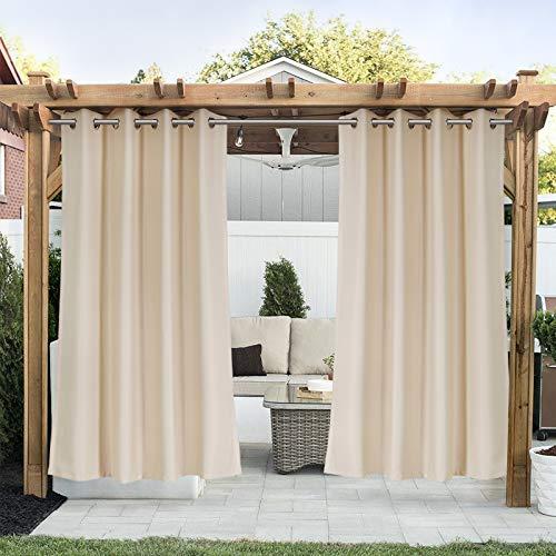 Tende da Esterno con Occhielli, Tende impermeabili opache, protezione dal vento e dai raggi UV, 1 Pezzo, 140*175 cm, Khaki