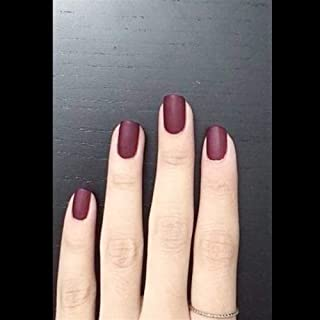 24Pcs Elegant Wine Red Christmas New Year Nails Press On Nail Artificial Nail Tips with Glue Sticker Faux Ongles Unhas Gift (Color : 21307501)