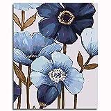 OKJK DIY Oil Painting by Numbers PigmentLinen Canvas DIY Digital Painting by Numbers Kits on Canvas -Blooming 40x50cm