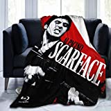 Needlove Scarface Throw Blanket Suitable Ultra Soft Weighted Bedding Fleece Blanket for Sofa Bed Office 60'x50' Travel Multi-Size for Adult