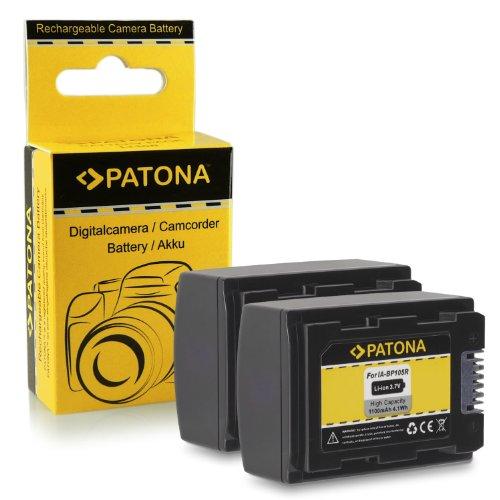 2x Batería IA-BP105R para Samsung HMX-F80 | HMX-F90 | HMX-F91 | HMX-F800 | HMX-F810 | HMX-F900 | HMX-F910 | HMX-F920 | HMX-H200 | HMX-H203 | HMX-H204 | HMX-H205 | HMX-H220 | HMX-H300 | HMX-H303 | HMX-H304 | HMX-H305 | HMX-H320 | HMX-H400 | HMX-H405 | SMX-F40 | SMX-F43 | SMX-F44 | SMX-F50 | SMX-F53 y mucho más…