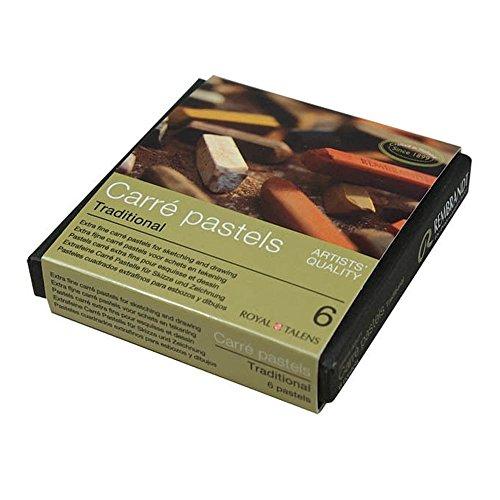 Pasteles De Calidad Del Artista Royal Talens Rembrandt Carre - Tonos Tierra Tradicional Pack De 6
