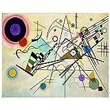 Legendarte - Cuadro Lienzo, Impresión Digital - Composición VIII - Wassily Kandinsky - Decoración Pared cm. 80x100