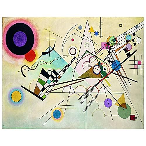 Legendarte - Stampa su tela - Composizione VIII - Wassily Kandinsky - Quadro su Tela, Decorazione Parete cm. 40x50