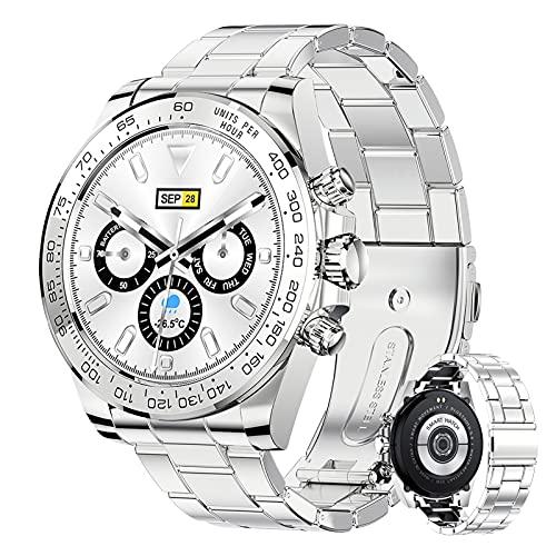HQPCAHL Smartwatch Impermeable Reloj Inteligente Pulsera Actividad Inteligente para Deporte, Reloj De Fitness con Podómetro Smartwatch Mujer Hombre para Admite Android Y iOS,A