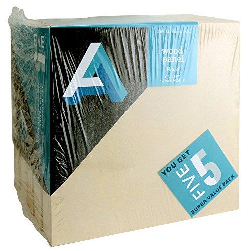 "ART ALTERNATIVES Wood Panel Value Pack 8"" x 8"""