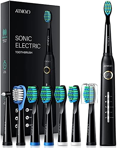 ATMOKO Electric Toothbrush with 8 Duponts Brush...