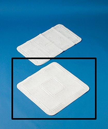 Homecraft Soft-Feel Duschmatte, 55,5 x 55,5 cm, Gemütlich, Safety & Security, hilfsbereit für ältere Menschen oder Kinder, Weiß, Groß, Quadratisch, Mama, Papa, Kinder, Behinderte, Behinderte