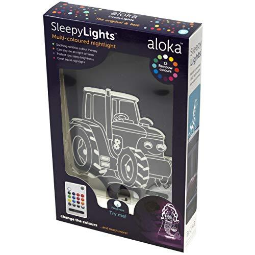 Aloka SleepyLights™ - Mehrfarbiges LED Nachtlicht für Kinder (Traktor)