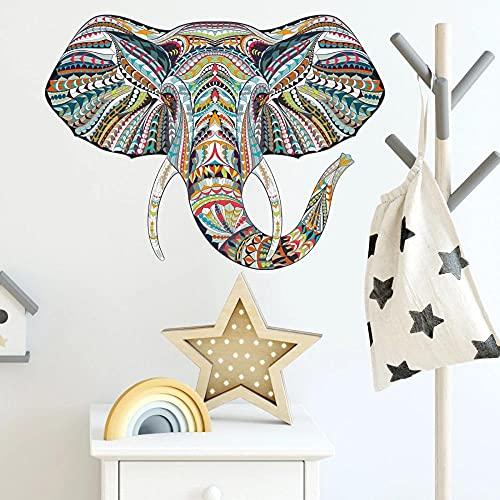 Color Animal Pattern Puzzle Elefante Pegatinas De Pared Habitación Para Niños Sala De Estar Dormitorio Decoración Pegatinas De Pared