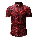 Xmiral Camicia da Uomo Camicia Slim Fit Camicia da Uomo, Stile Inglese, Elegante, Aderente...