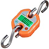 Mougerk Digital Hanging Scales Portable Heavy Duty Crane Scale 150 kg 300 lb 2 AAA Batteries(Not Included) (Orange)