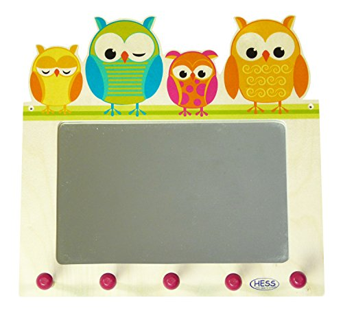 Hess-Spielzeug 30502 - Garderobe mit Spiegel Eulen