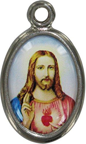 Ferrari Médaille métal nickelé cm 2,5 résine S.C. Jésus sogg.17 (Lot de 20 pièces)
