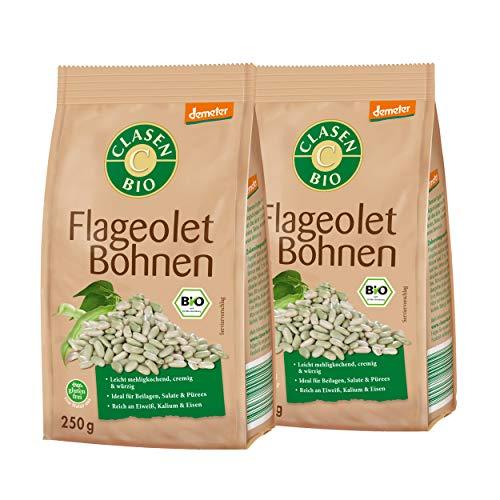 Clasen Bio Demeter Flageolet Bohnen(2 x 250g)*