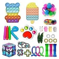 30個のPCSフィジットのおもちゃパック、ポップバブル安い感覚のフィジットのおもちゃのストレスリリーフと子供の大人のための反不安ツール (Color : 30 Pack-n)