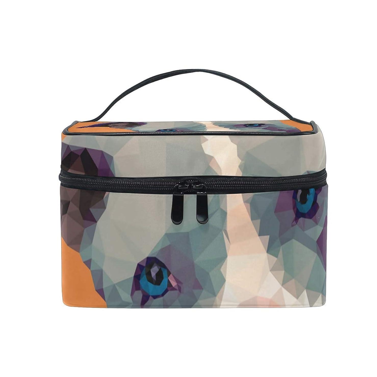 商人評価する表向きメイクボックス ピットブルピットブル柄 化粧ポーチ 化粧品 化粧道具 小物入れ メイクブラシバッグ 大容量 旅行用 収納ケース