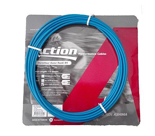 Funda para Cable de Cambio Profesional Color Azul 7.5m ASHIMA Bicicleta Carretera...