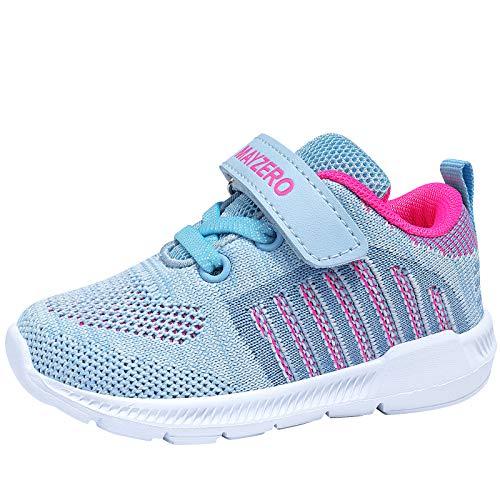 Jungen Schuhe Sportschuhe Kinder Atmungsaktiv Laufschuhe Sport Sneaker Turnschuhe Hallenschuhe für Damen,Hellgrau,EU 31
