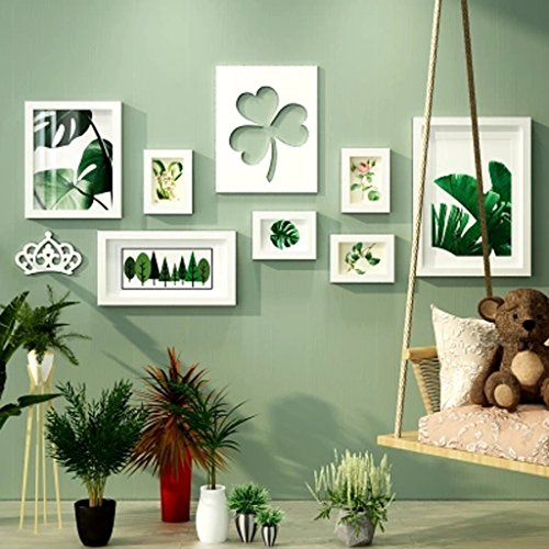 ZSMPY Photo Wall Photo Frame Wall Wall Hanging Wall Photo Frame Modern Minimalist Combination Photo Wall ZS (Color : All White)