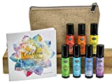 Chakra Complete Pre-diluted Roll On Set with Travel Bag Made with Pure Essentials Oils by Fabulous...