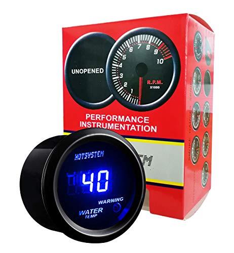 HOTSYSTEM Electronic Universal Water Temp Temperature Celsius Meter Gauge Blue Digital LED DC12V 2inches 52mm for Car Vehicle Automotive