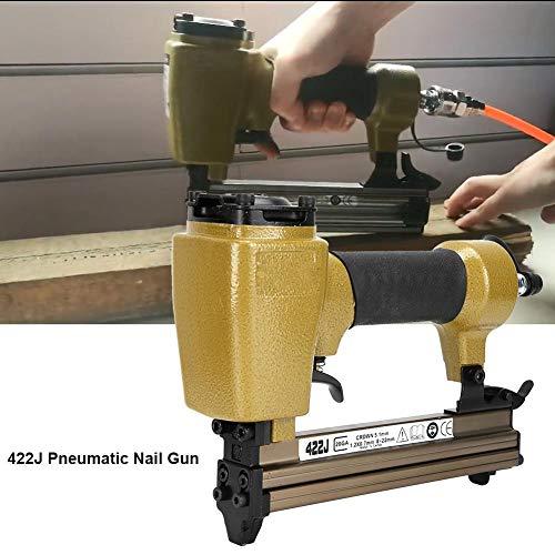 Máquina neumática de clavos, 422J Máquina neumática de clavos en forma de U Entrada de aire de 1/4 pulgada Grapadora de aire de grado industrial Conector rápido japonés(422J)
