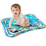 Mopalwin Colchoneta de agua para bebé, juguetes para bebés de 3 a 6 a 9 meses, con flotadores móviles, esterilla de juego para el agua para el desarrollo temprano del bebé (86 x 68 cm)